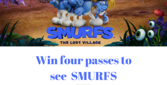 Win Four Passes to Screen the new film: SMURFS The Lost Village