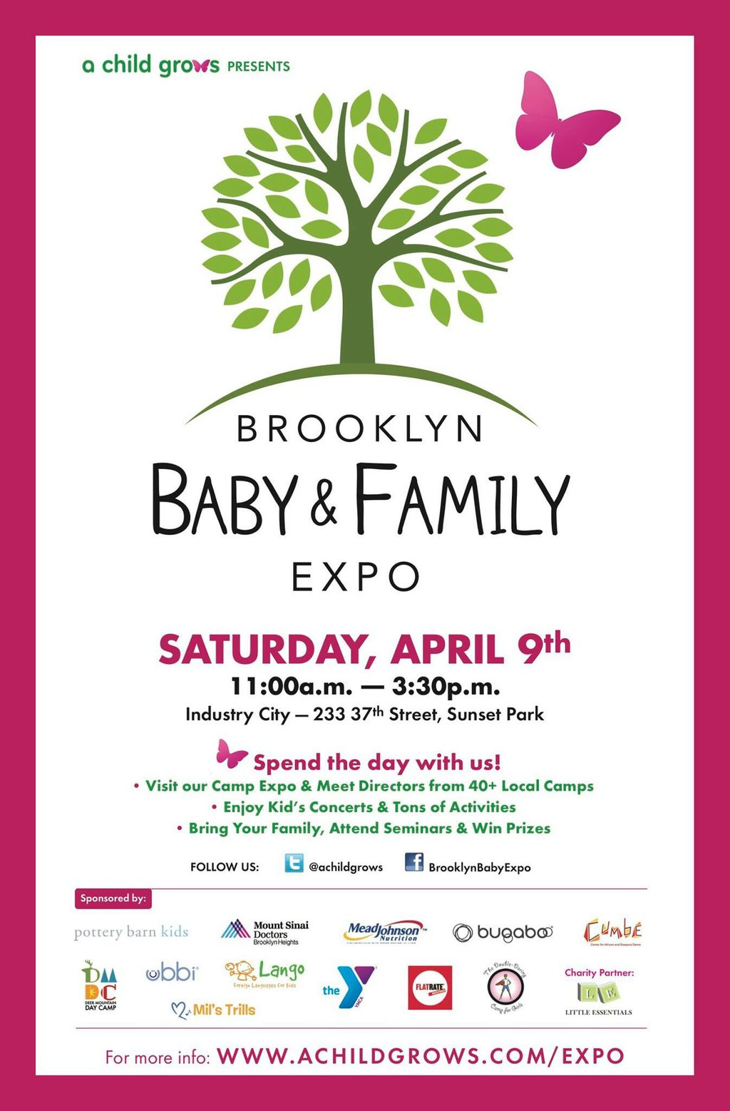 Party in your PJ's and join our #BklynbabyFamilyExpo Twitter Party