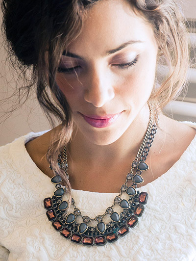 Win this  VIVI Jewelry's STRIKING A BALANCE GARNET NECKLACE • Genuine crystal • from http://www.thestatenislandfamily.com