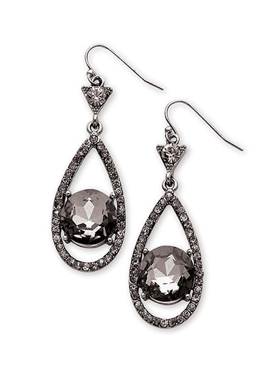 win these VIVI BLACK DIAMOND TEARDROP EARRINGS Genuine crystal from http://www.thestatenislandfamily.com