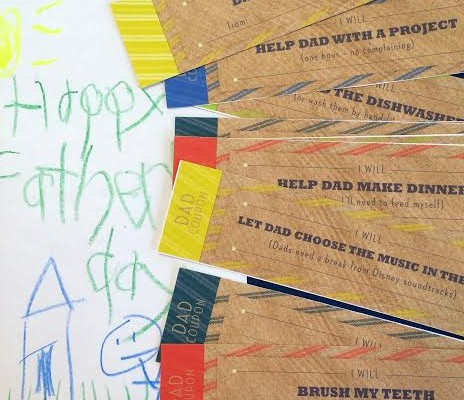 Help Your Kids Celebrate Their Father with An Easy To Make Dad Coupon Book