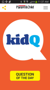 Need a few Conversation Starters? The Scholastic KidQ app for iPhone and Android has got you covered!