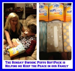 The Sunday Swoon: Puffs SoftPack is Helping me Keep the Peace in our Family