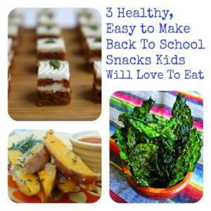 Three Healthy, Easy to Make Back To School Snacks Kids Will Love To Eat