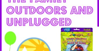 5 Tips To Get the Family Outdoors and Unplugged (#1 of which is an Epic Water Balloon Fight with ZORBZ self-sealing water balloons)