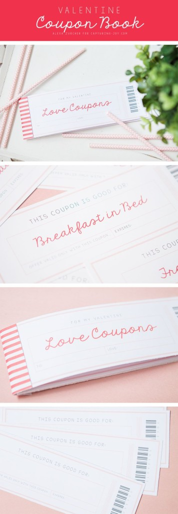 Create coupons for acts of service for other family members like, hair braiding, making Mom and Dad breakfast in bed, dog walking or shoveling snow. Be creative and decorate your coupons in pink red and white.