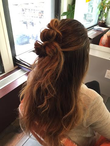 How-To : Get the Half-Up Double Knot HairStyle