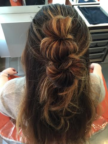 How-To: Get the Half-Up Double Knot HairStyle
