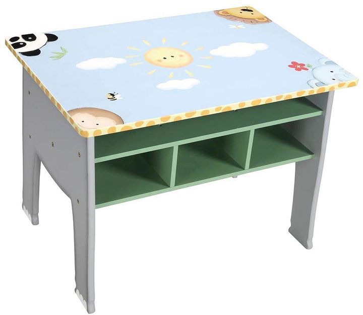Your little artist will love getting creative at this Teamson Kids activity table that boasts cute animal graphics and convenient shelving.