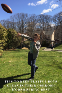 Tips to Keep Playful Boys Clean in their OshKosh B'Gosh Spring Best & A $50 GIVEAWAY // #FIELDSOFFUN