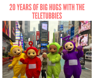 Celebrating 20 Years of Big Hugs With The Teletubbies and a NYC Party!