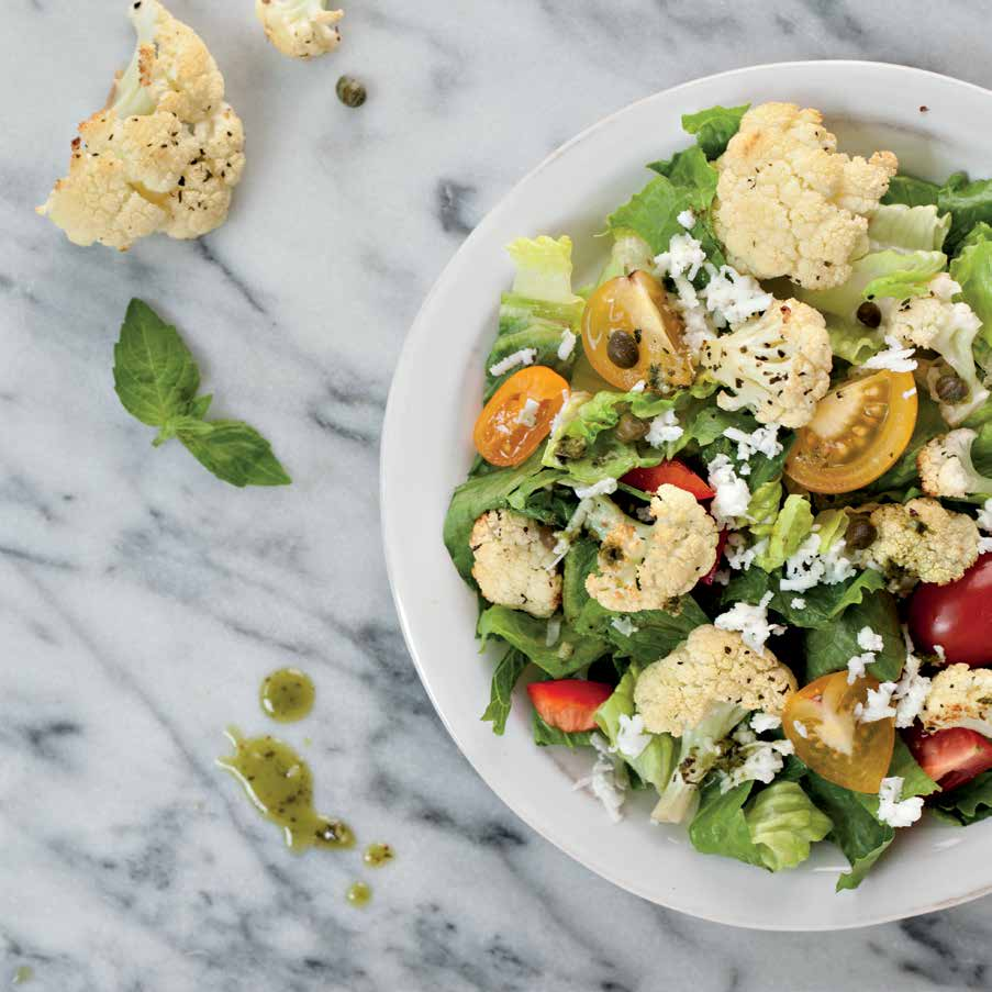 Italian Roasted Cauliflower Salad Recipe — Dishmaps