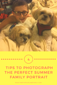 Four tips to photograph the perfect summer family portrait